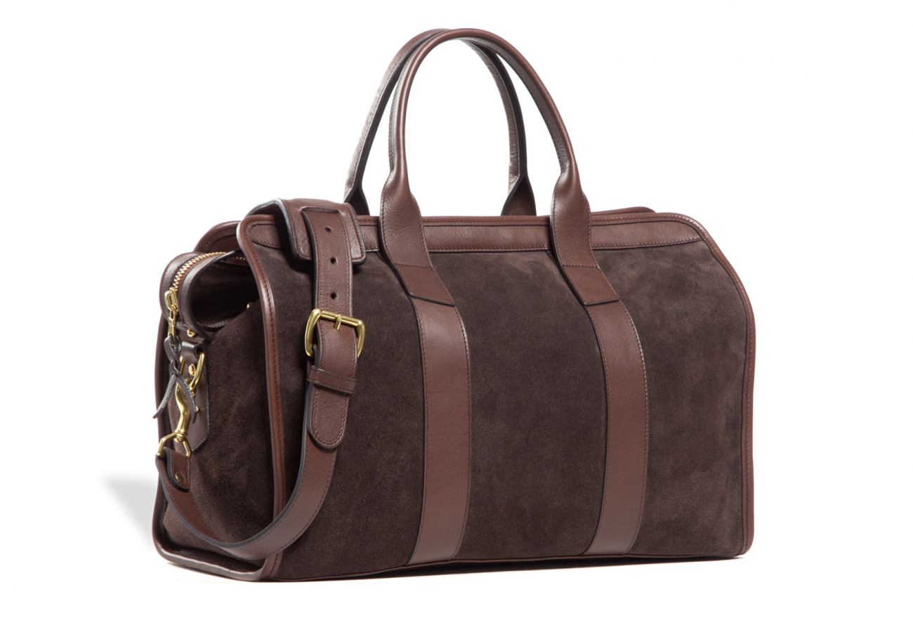 Small Duffle Bag Suede Chocolate1 1 1