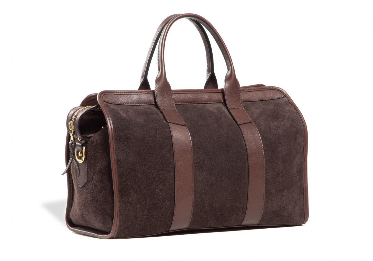 Small Duffle Bag Suede Chocolate2 1 1