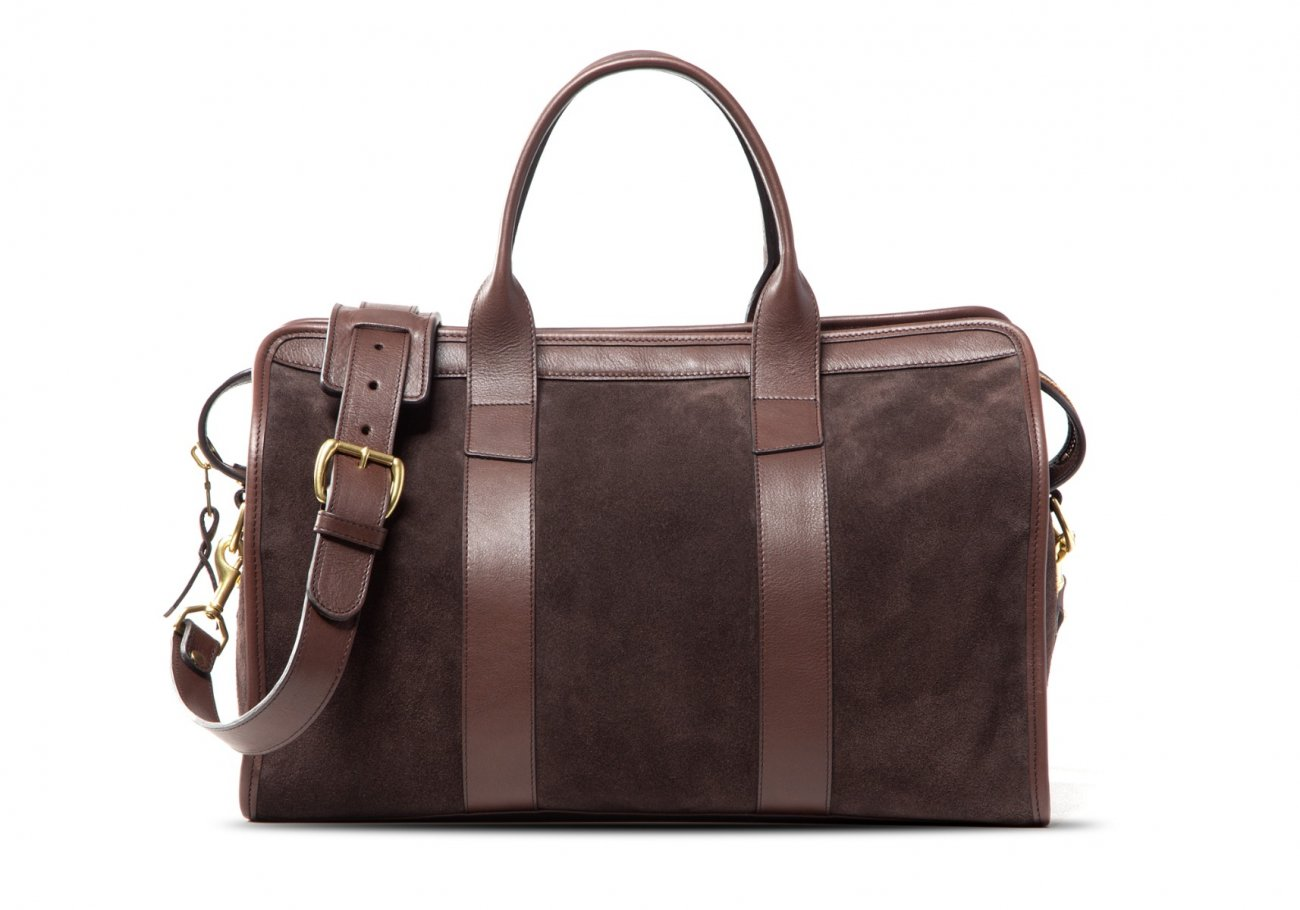 Small Duffle Bag Suede Chocolate3 1 1