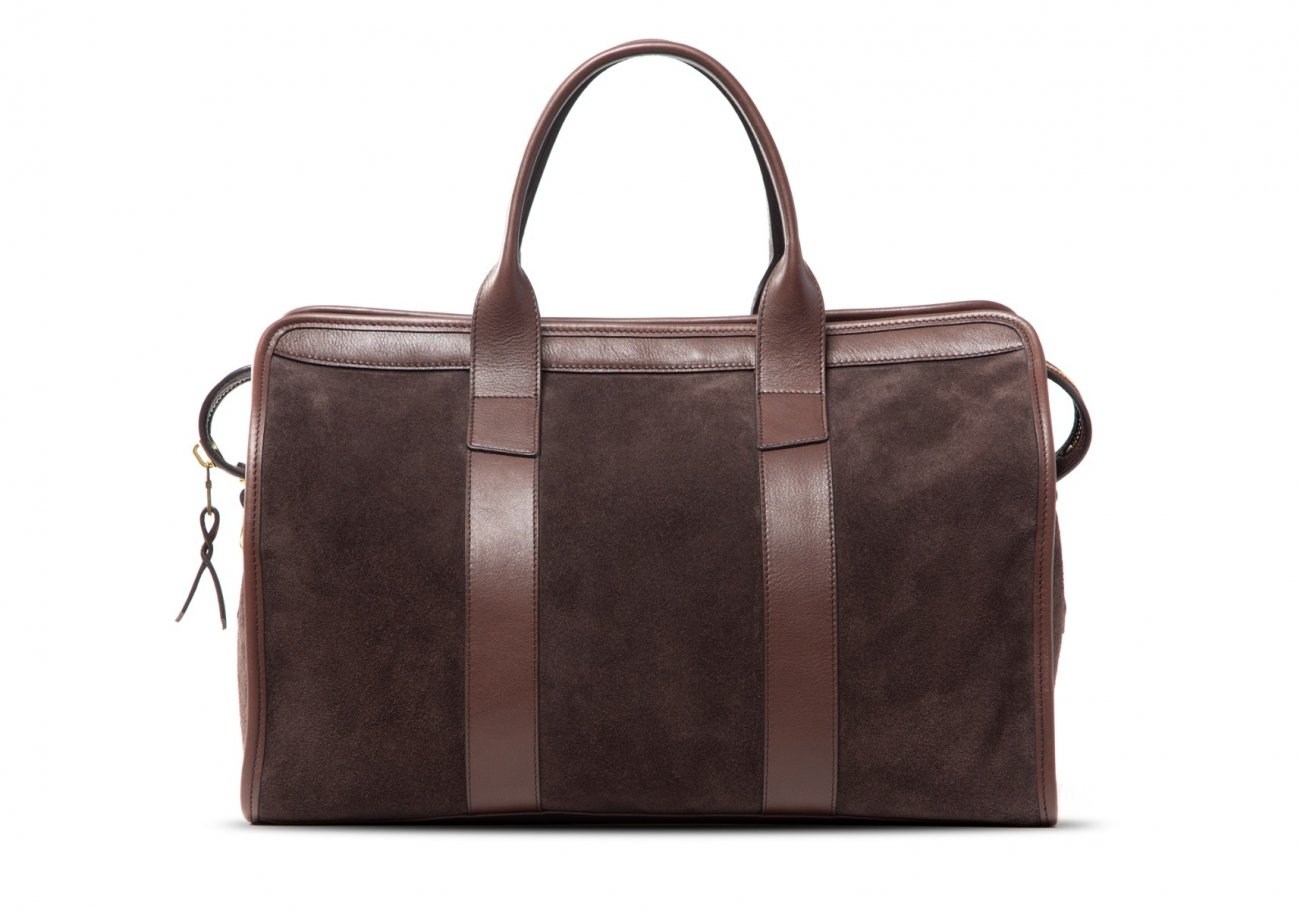 Small Duffle Bag Suede Chocolate4 1 1