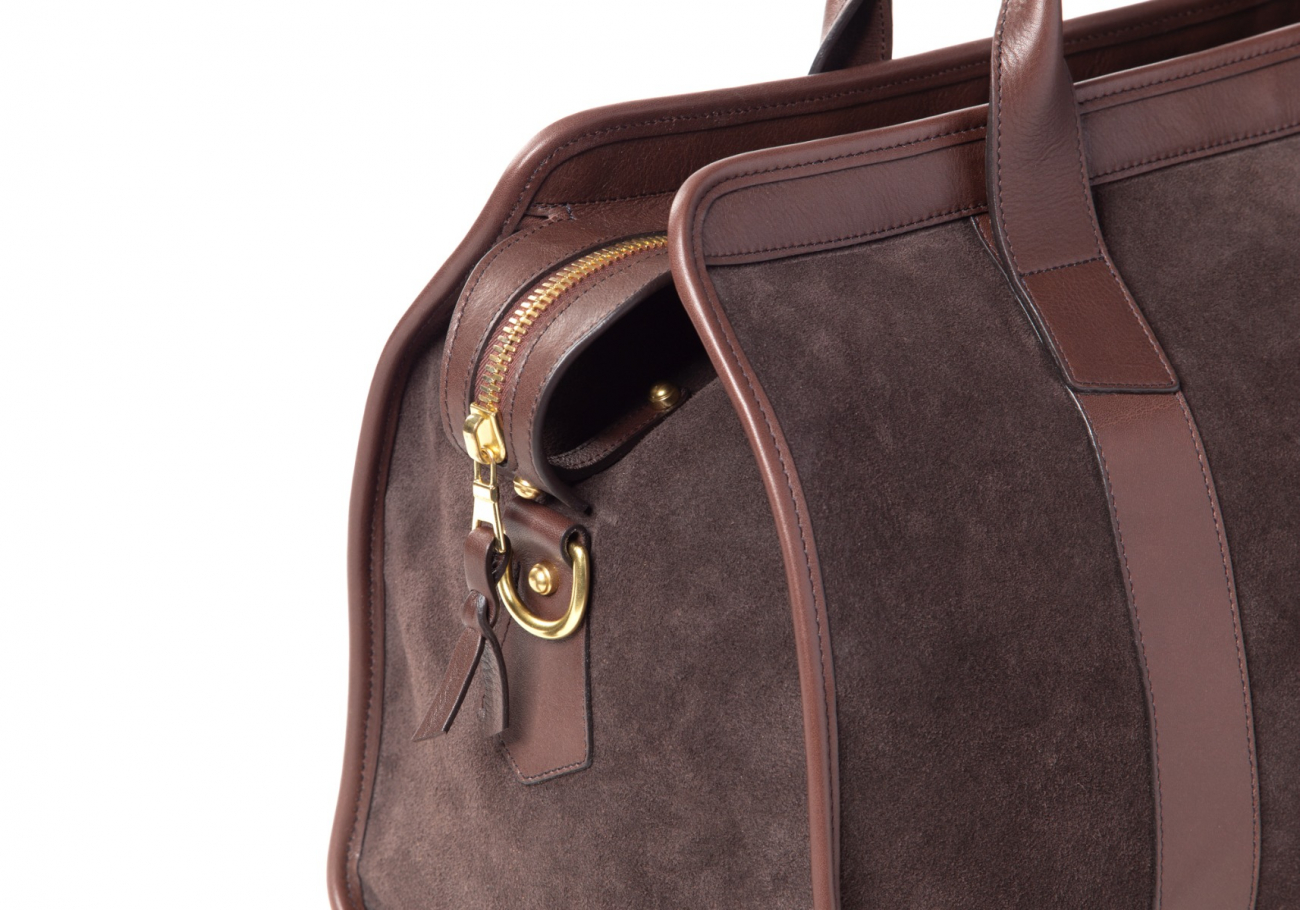 Small Duffle Bag Suede Chocolate6 1 1