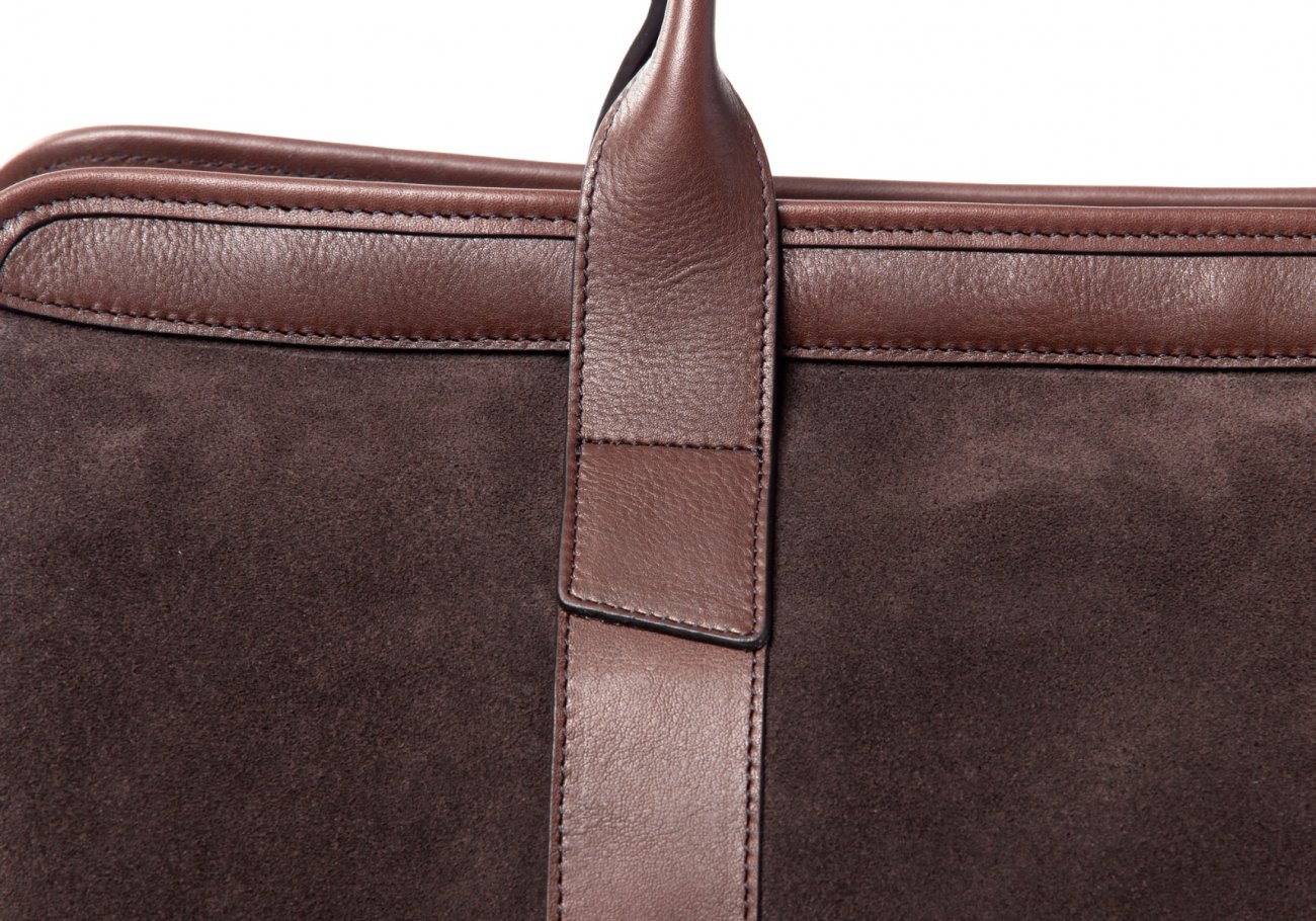 Small Duffle Bag Suede Chocolate7 1 1