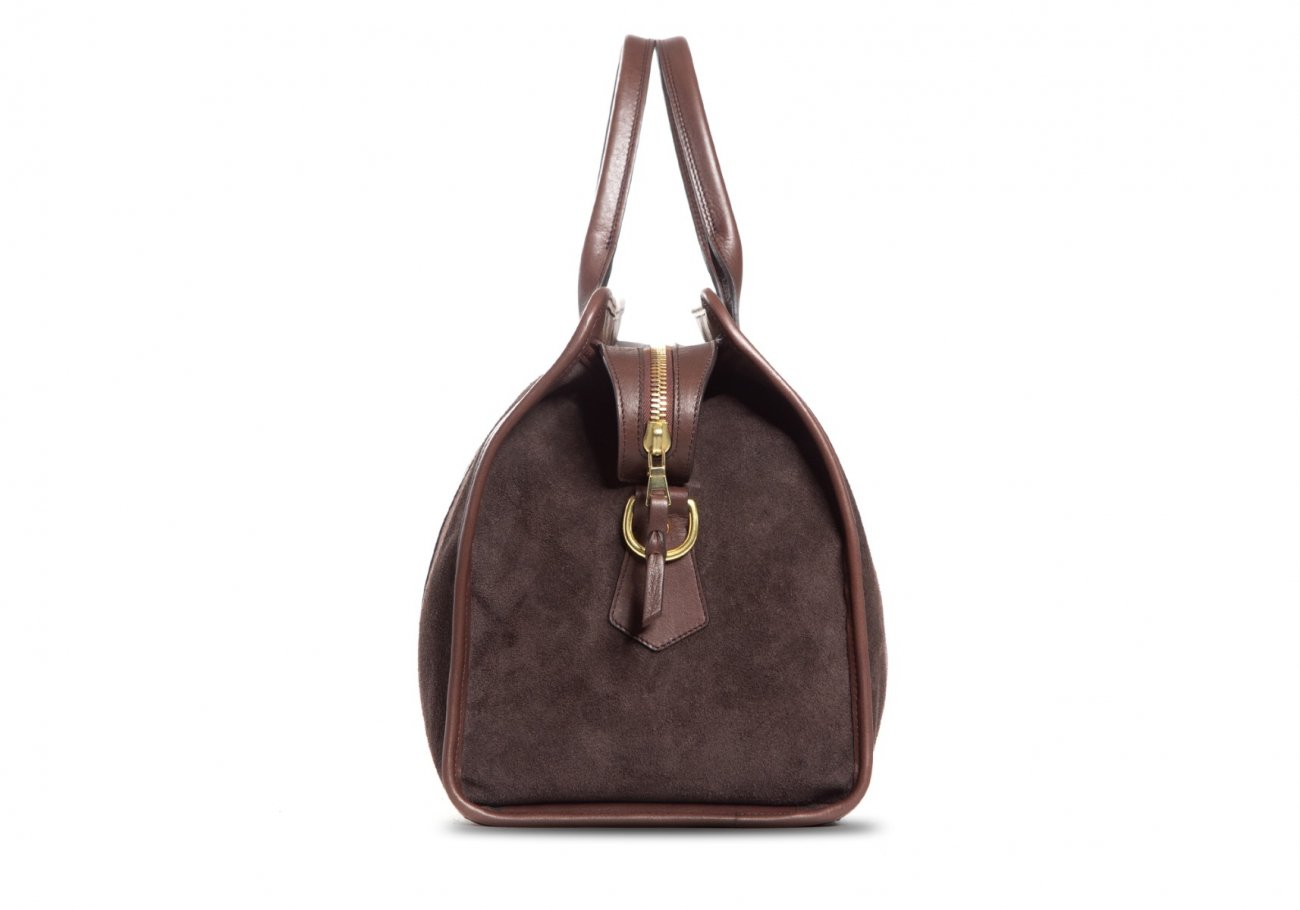 Small Duffle Bag Suede Chocolate8 1 1
