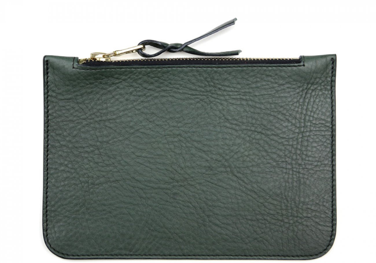 Small Green Zipper Pouch Made In Usa Frank Clegg 1