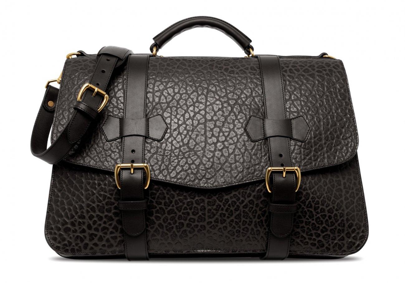 Small Lawyers Briefcase Black Shrunken4