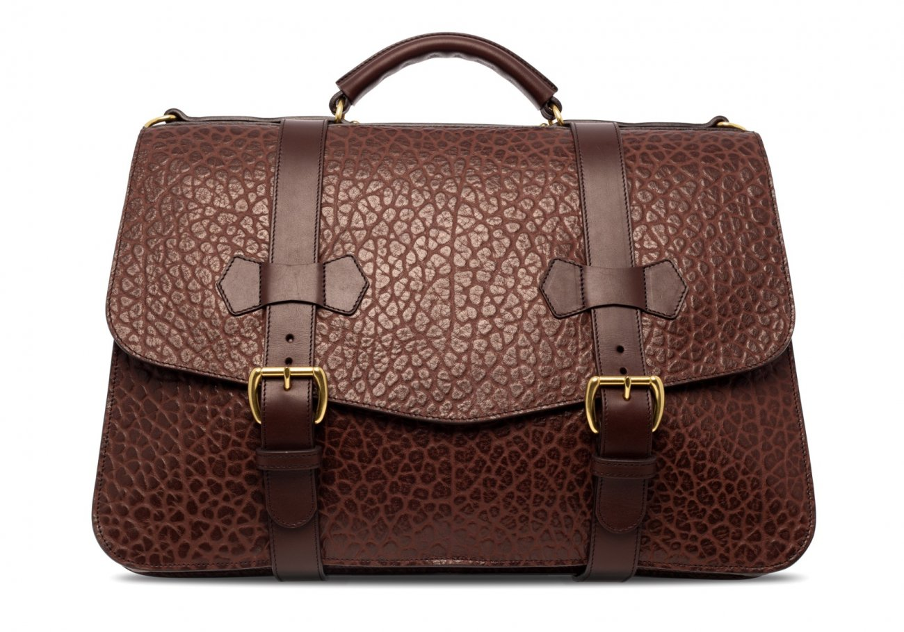 Small Lawyers Briefcase Brown Shrunken1