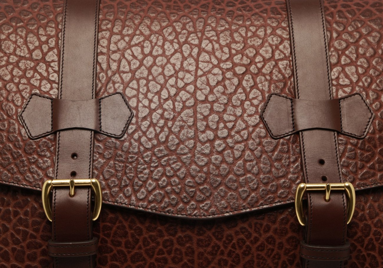 Small Lawyers Briefcase Brown Shrunken3