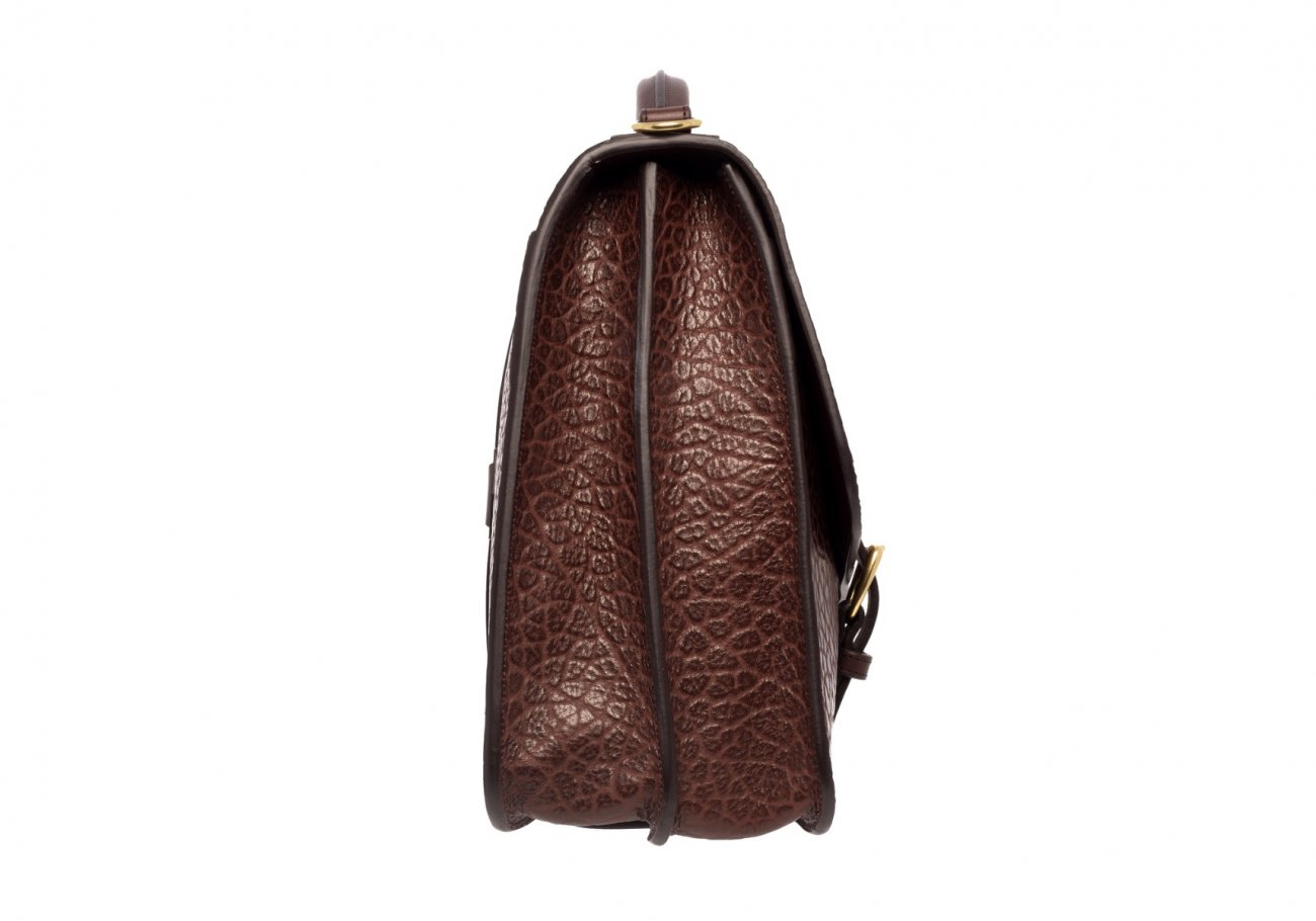 Small Lawyers Briefcase Brown Shrunken4