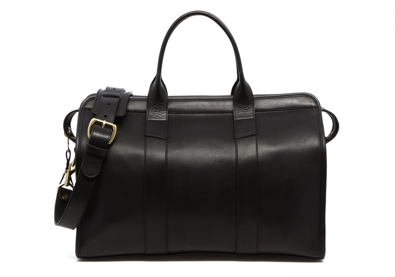 Small Leather Duffle Bag Black Frank Clegg Made In Usa1 1