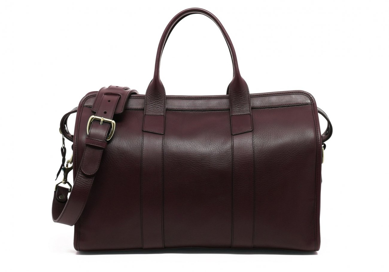 Small Leather Duffle Bag Burgundy Frank Clegg Made In Usa1