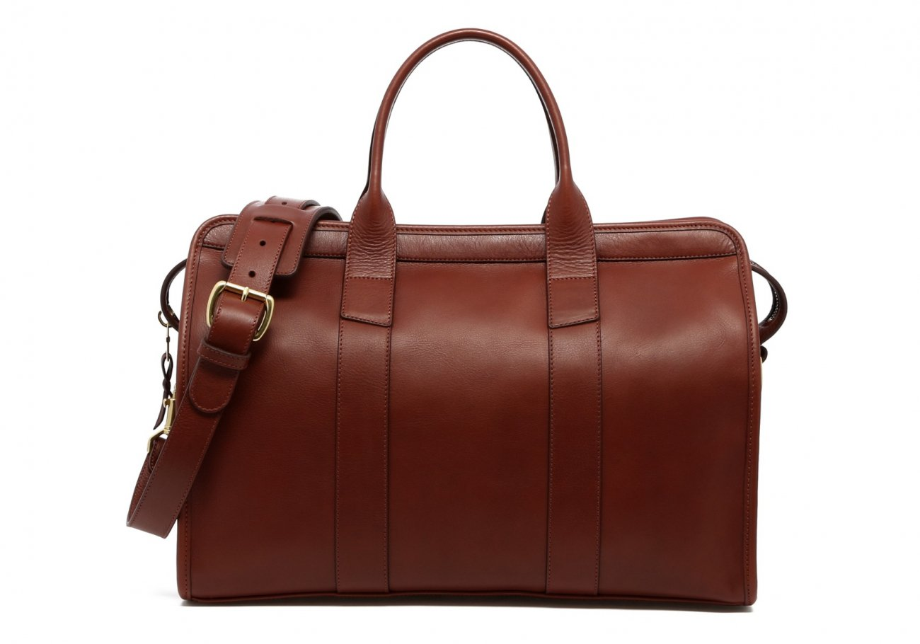 Small Leather Duffle Bag Chestnut Frank Clegg Made In Usa1