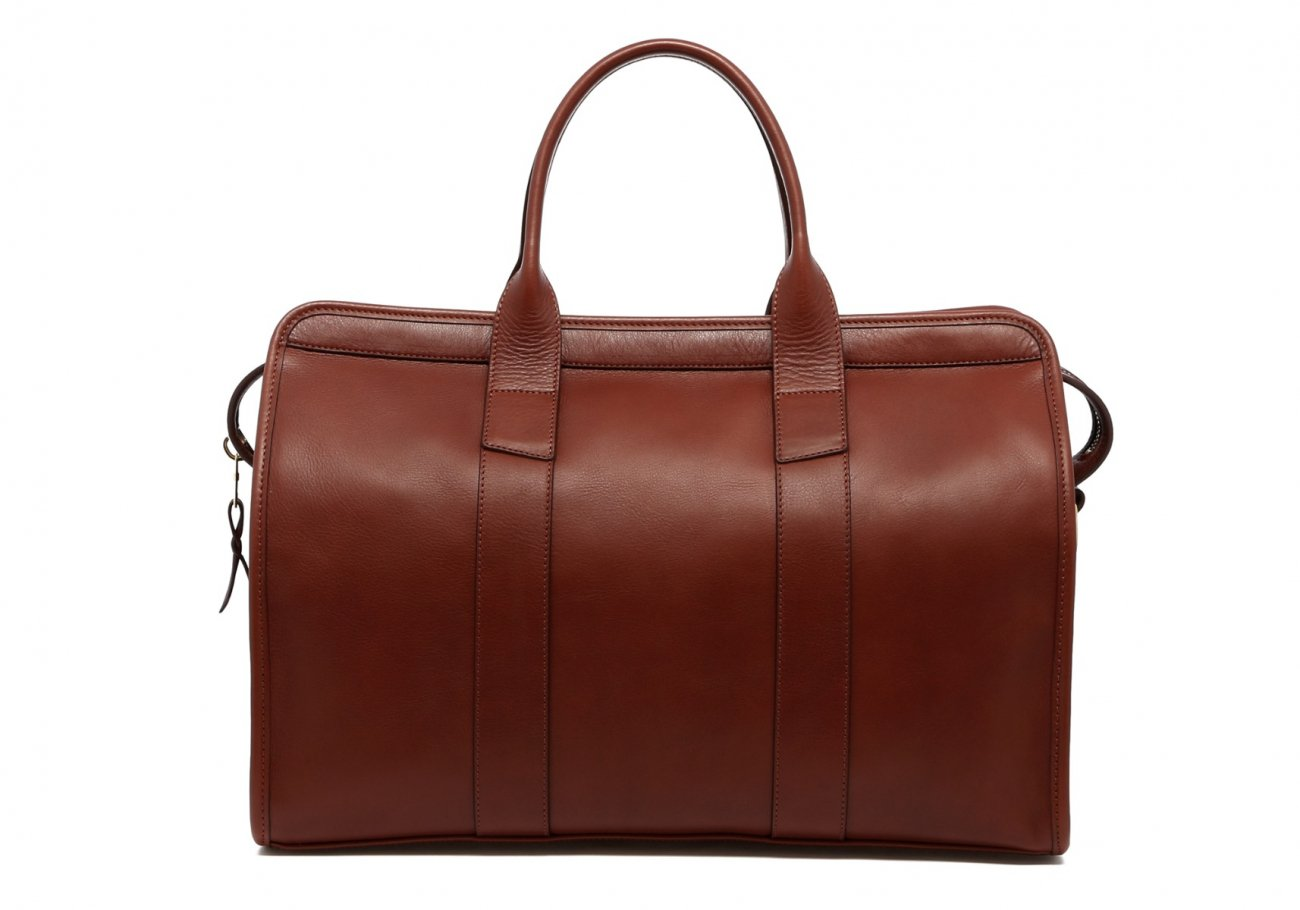 Small Leather Duffle Bag Chestnut Frank Clegg Made In Usa2