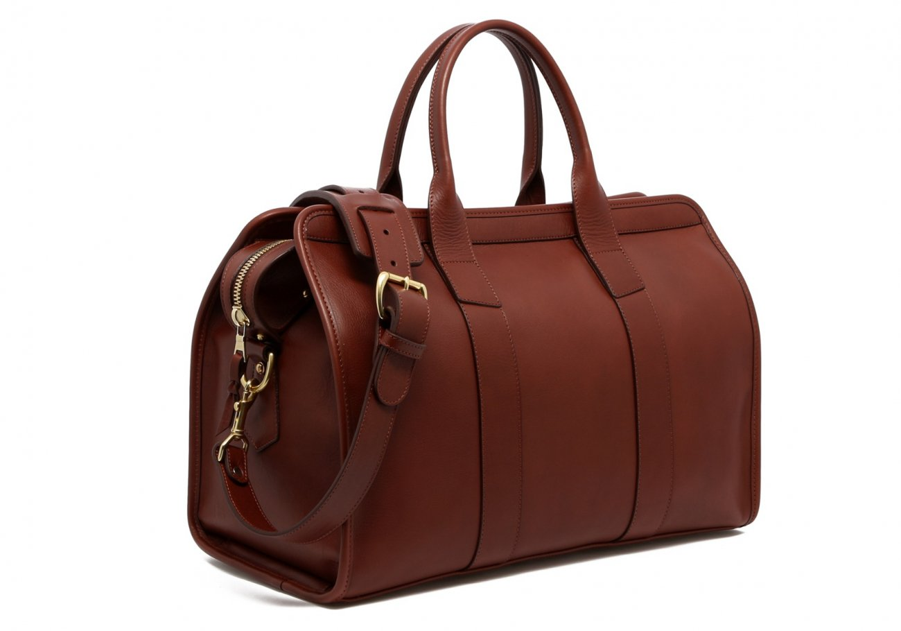 Small Leather Duffle Bag Chestnut Frank Clegg Made In Usa3