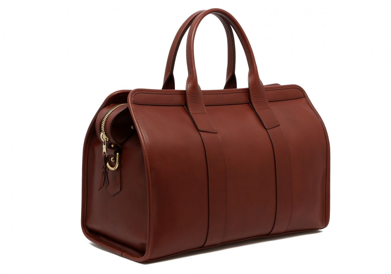 Small Leather Duffle Bag Chestnut Frank Clegg Made In Usa4