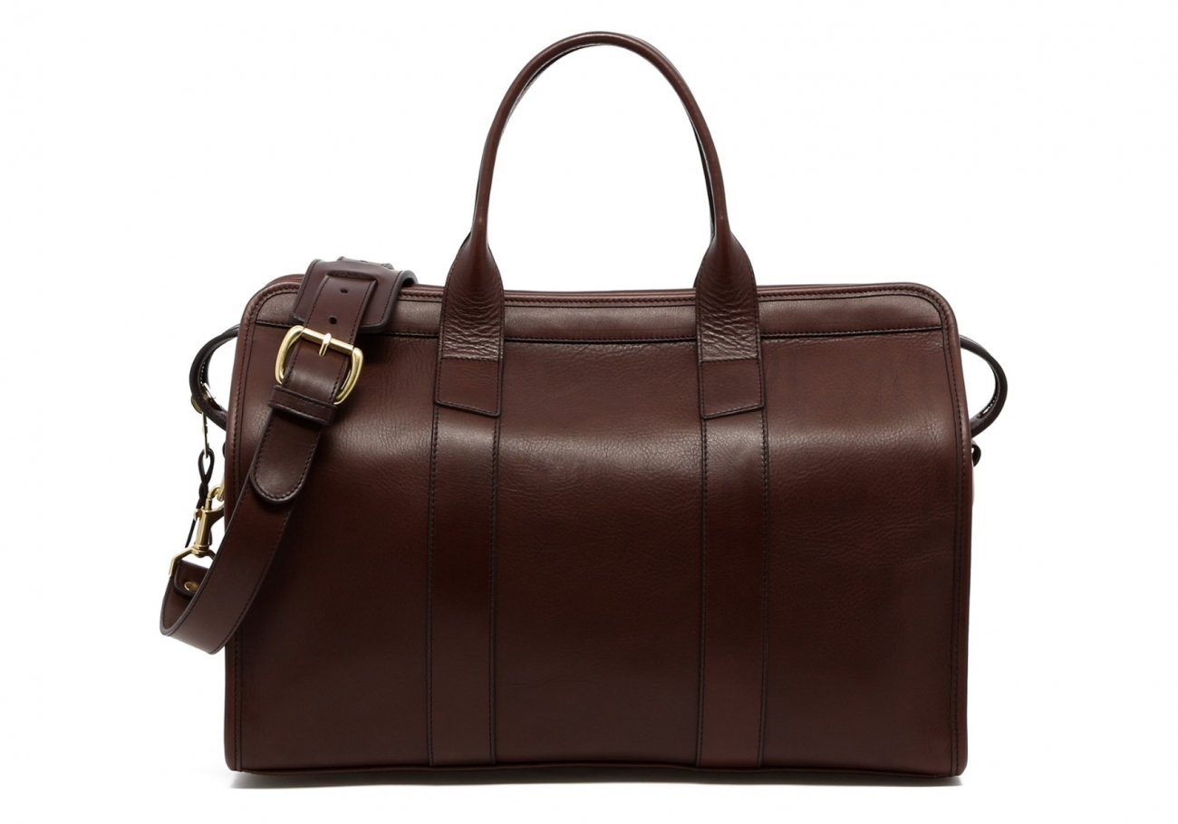 Small Leather Duffle Bag Chocolate Frank Clegg Made In Usa1
