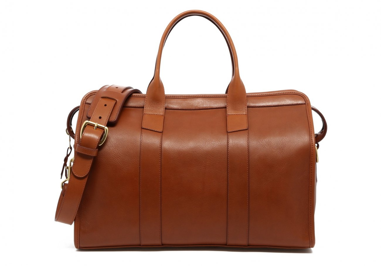Small Leather Duffle Bag Cognac Frank Clegg Made In Usa1