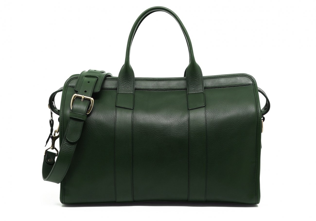 Small Leather Duffle Bag Green Frank Clegg Made In Usa1