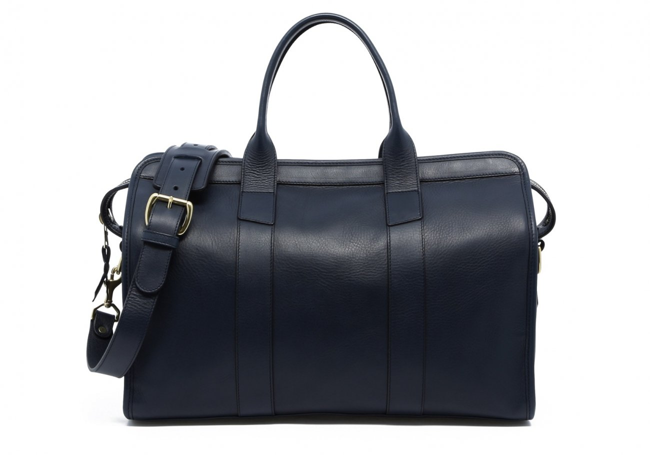 Small Leather Duffle Bag Navy Frank Clegg Made In Usa1