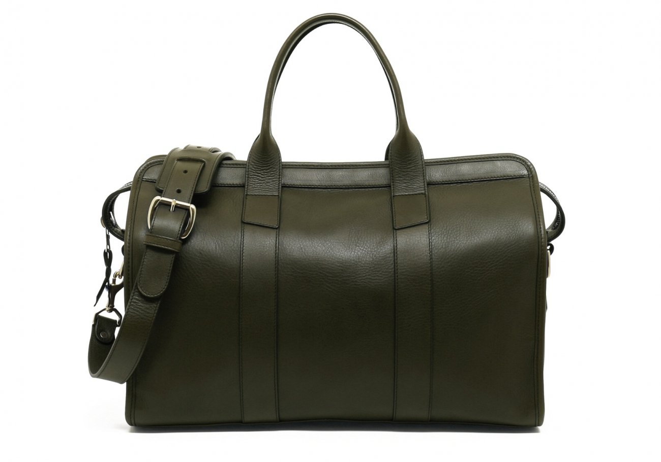 Small Leather Duffle Bag Olive Frank Clegg Made In Usa1