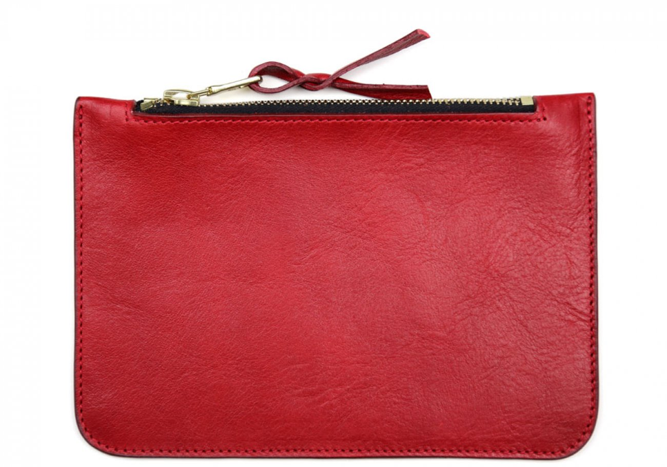 Small Red Zipper Pouch Made In Usa Frank Clegg 1