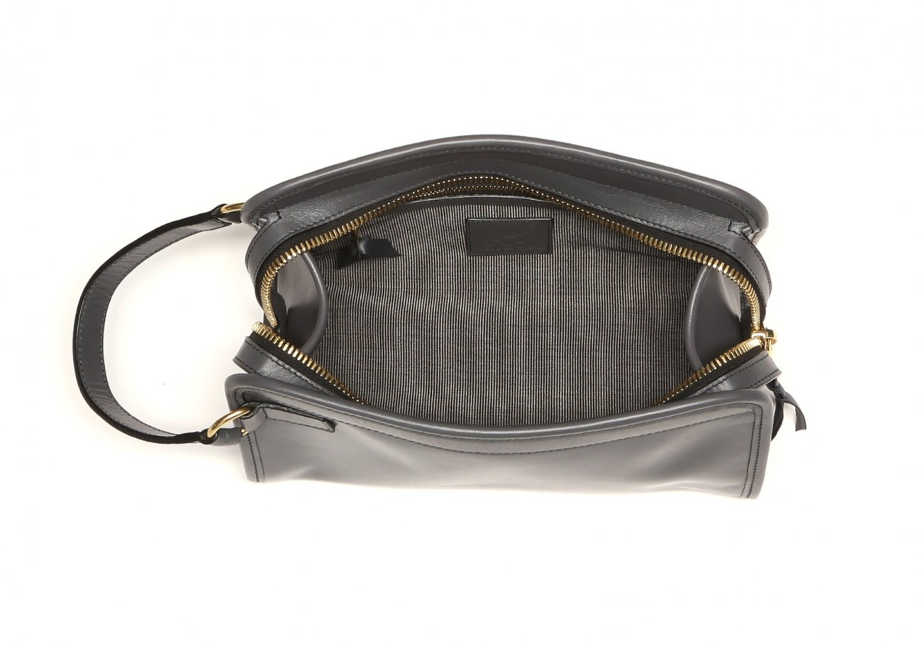 Small Travel Kit Grey Leather5