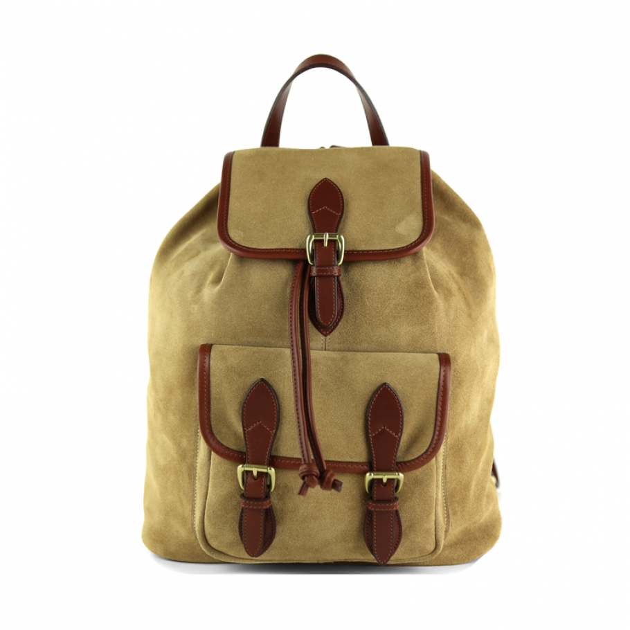 Suede Backpack Brown Leather Frank Clegg 1 Final