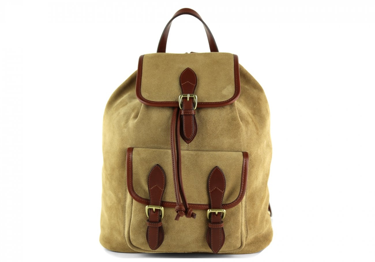 Suede Backpack Brown Leather Frank Clegg 1
