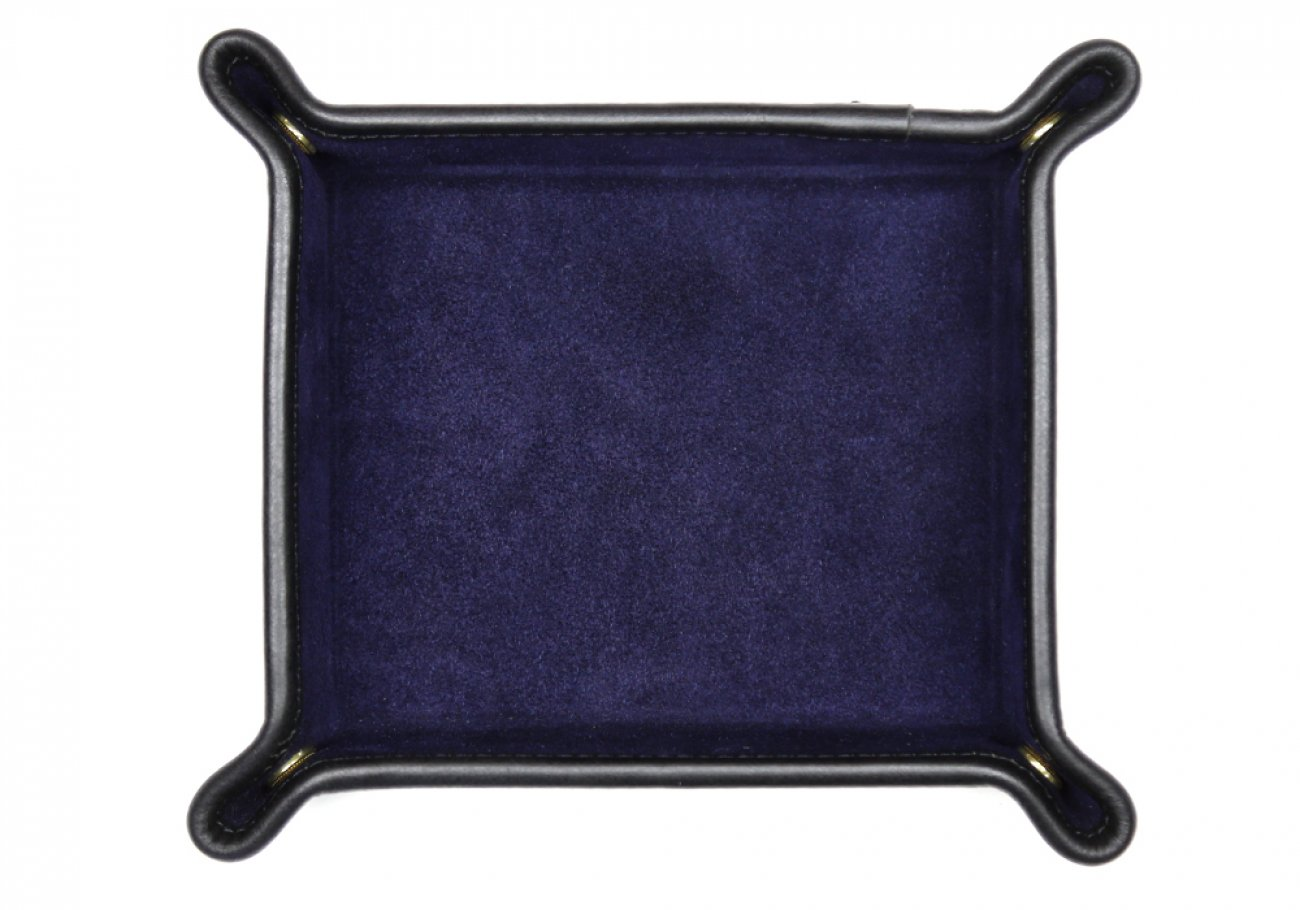 Suede Valet Tray Navy Frank Clegg 1