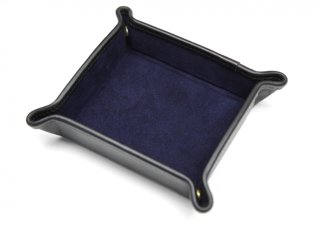 Suede Valet Tray Navy Frank Clegg 2