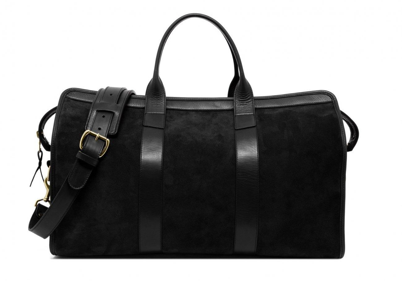 Suede Duffle Bag Black 3