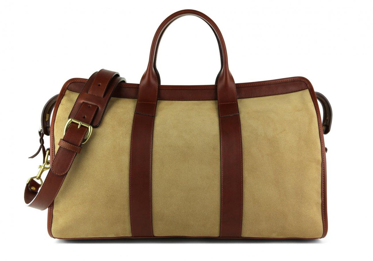 Suede Duffle Bag Light Brown Sand Frank Clegg1