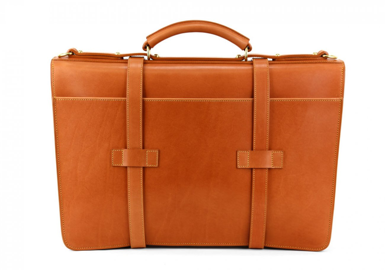 Tan Leather American Briefcase Frank Clegg Made In Usa 6