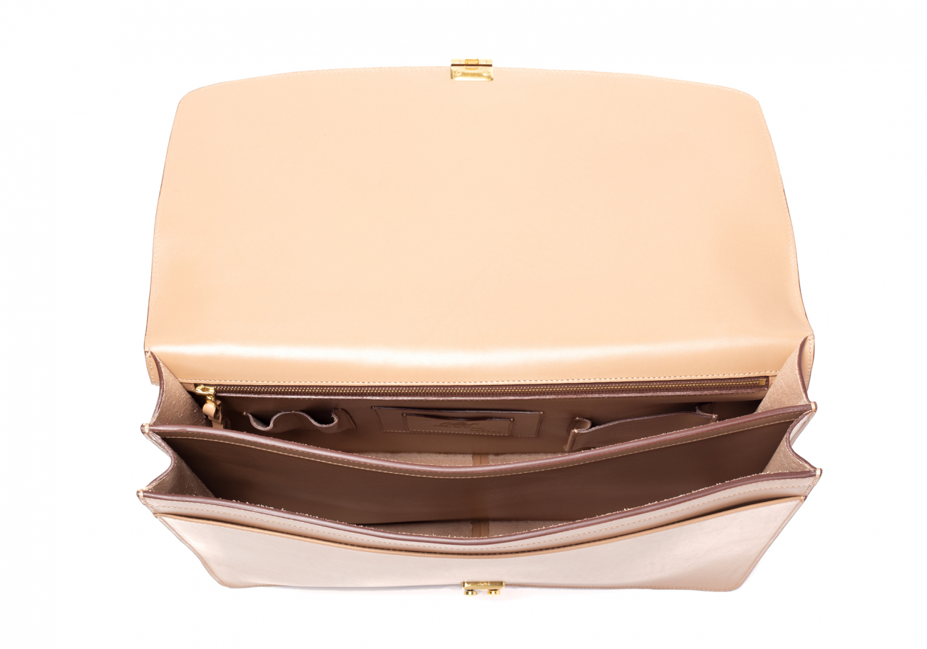 Taupe Wall Street Briefcase Belting4
