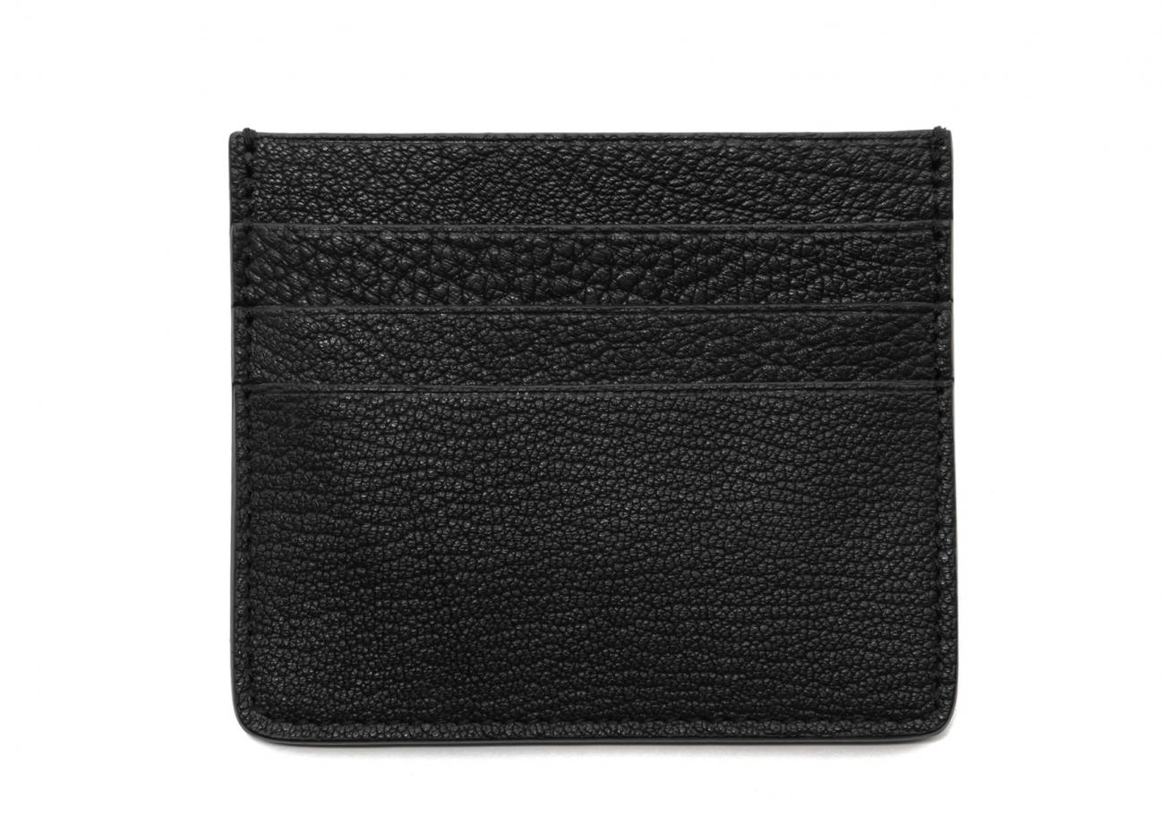 Triple Card Wallet Black Goatskin1