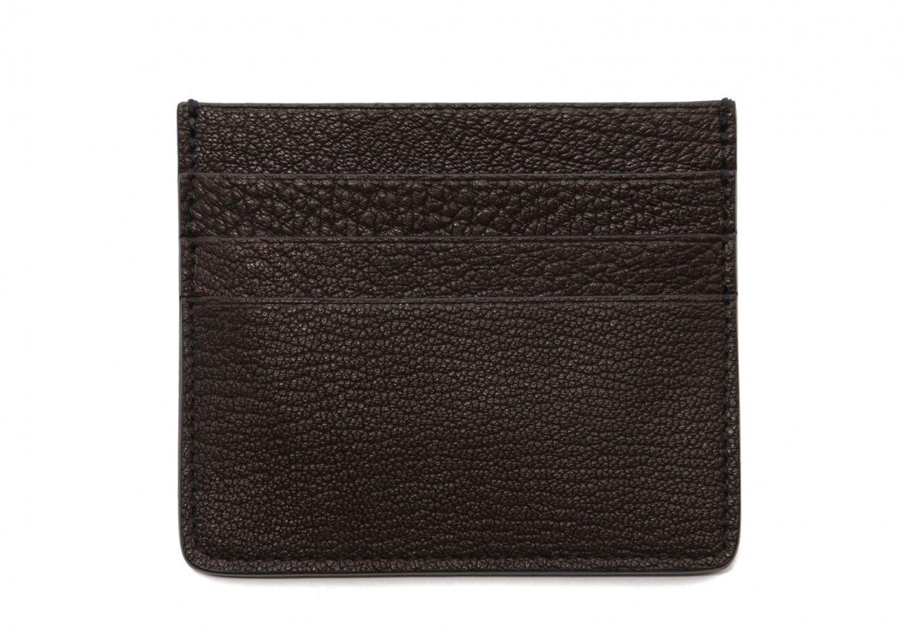 Triple Card Wallet Chocolate Goatskin1