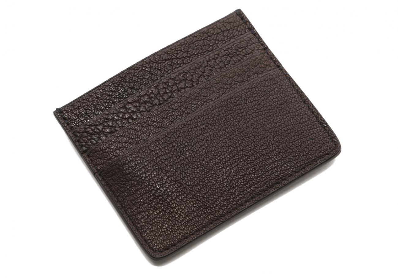Triple Card Wallet Chocolate Goatskin2
