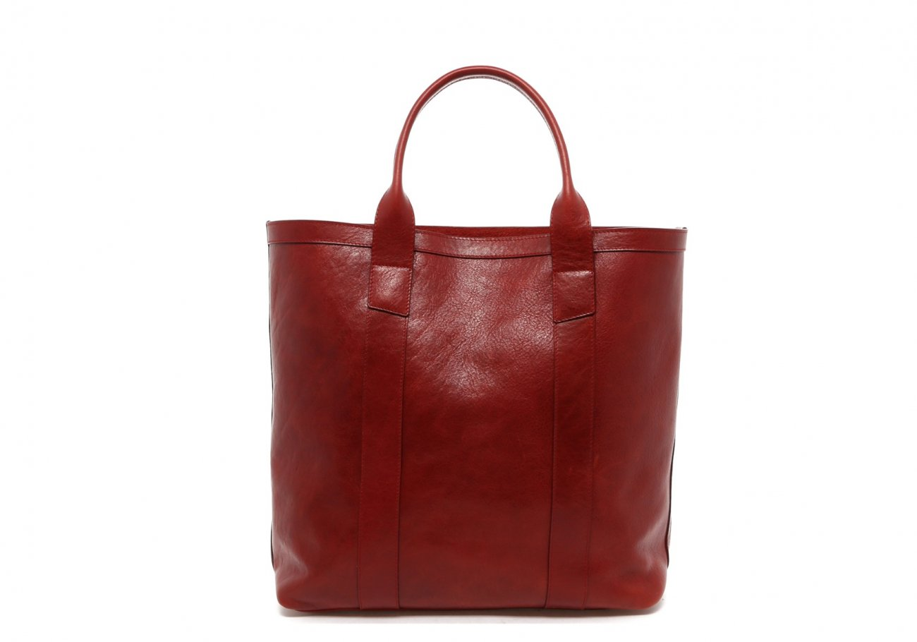Washed Rodewood Red Tall Tote B