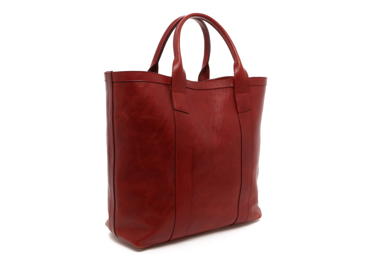 Washed Rodewood Red Tall Tote C