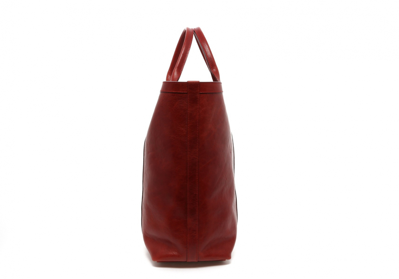 Washed Rodewood Red Tall Tote D