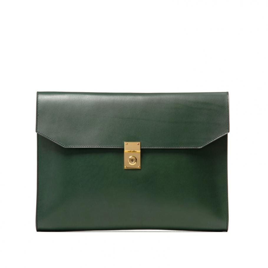 Wrap Leather Lock Portfolio Main 0000  Wrap Around Leather Lock Portfolio Green3