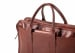 Cause Leather Zip Top Briefcase Chestnut3