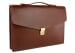 Chestnut Leather Lock Portfolio With Handle 2
