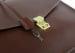 Chestnut Leather Lock Portfolio With Handle 5