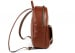 Chestnut Zipper Leather Backpack 3