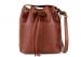 Chestnut Cara Draw String Bag Frank Clegg Made In Usa 1