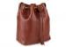 Chestnut Cara Draw String Bag Frank Clegg Made In Usa 3