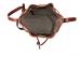 Chestnut Cara Draw String Bag Frank Clegg Made In Usa 8