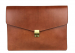 Chestnut Harness Belting 15  Leather Lock Portfolio Case Frank Clegg Made In Usa 1 2