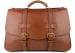 Chestnut Harness Belting Leather Lawyers Briefcase Frank Clegg Made In Usa 2