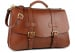 Chestnut Harness Belting Leather Lawyers Briefcase Frank Clegg Made In Usa 3